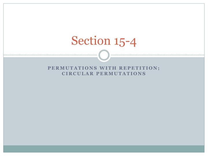 Section 15 4