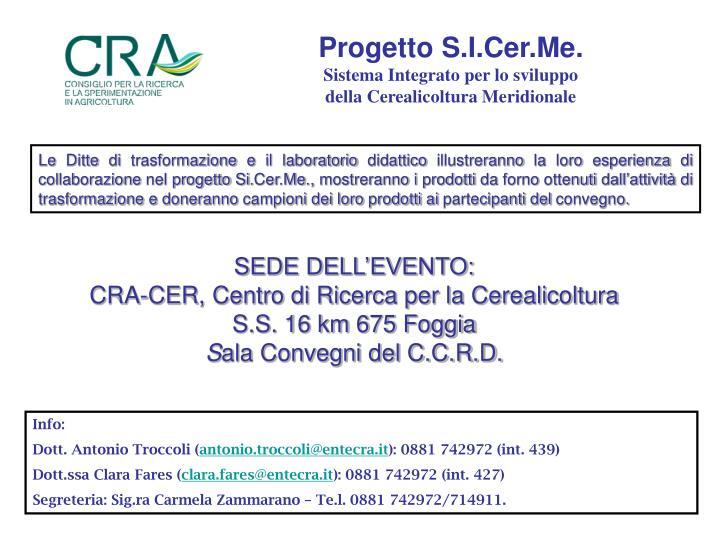 Progetto S.I.Cer.Me.