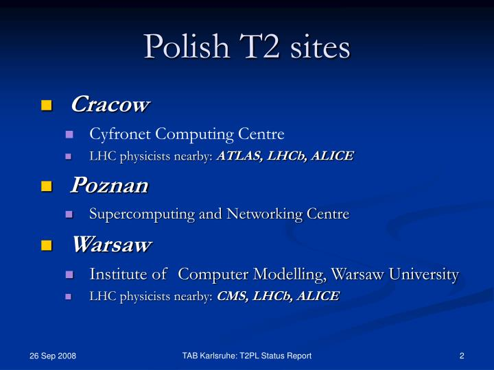 Polish t2 sites