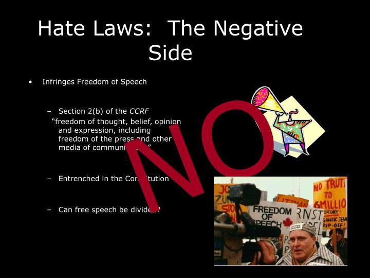 Infringes Freedom of Speech