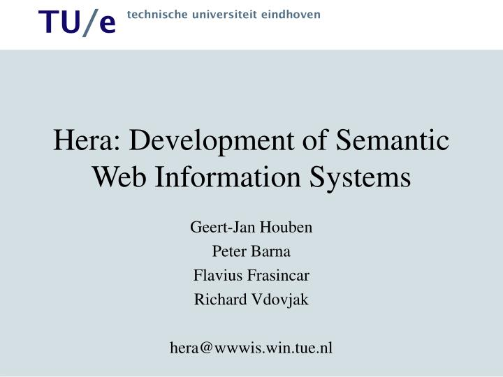 Ppt Hera Development Of Semantic Web Information Systems Powerpoint Presentation Id 3754722
