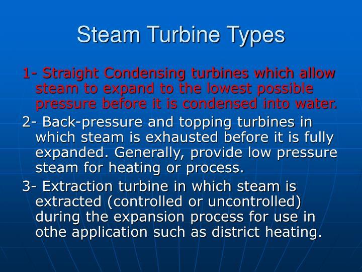 Steam Turbine Types