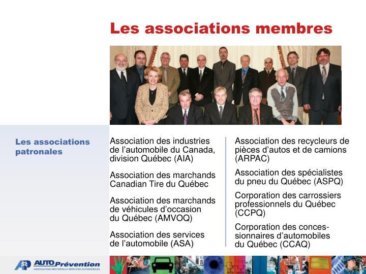 Les associations membres