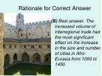 rationale for correct answer