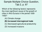 sample multiple choice question tab 2 p 97