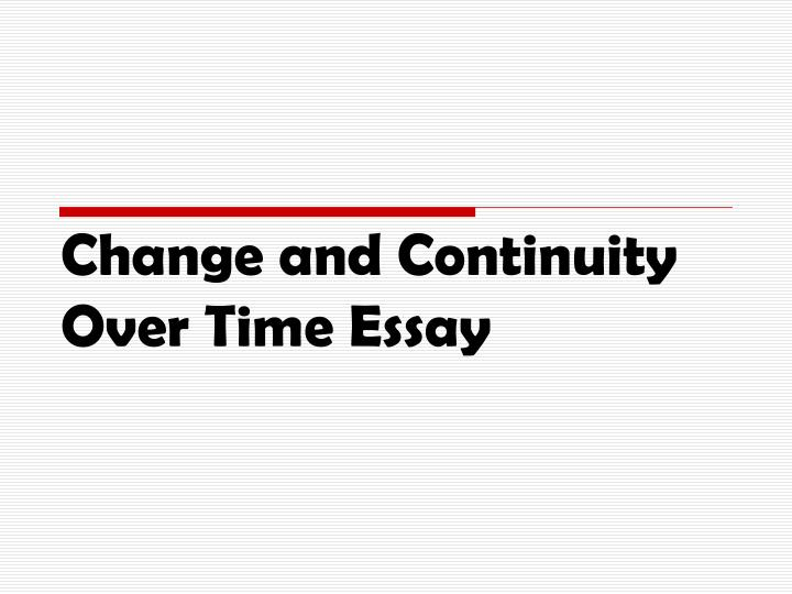 change along with continuity over moment article topics