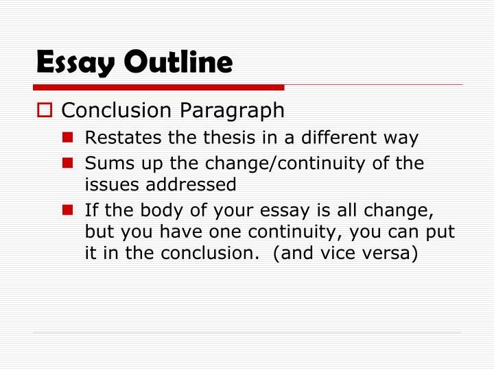 continuity and change over time essay thesis It will take hold of major components of your essay such as (1) your analytical thesis, (2) writing the continuity and change over time (ccot) essay [a review.