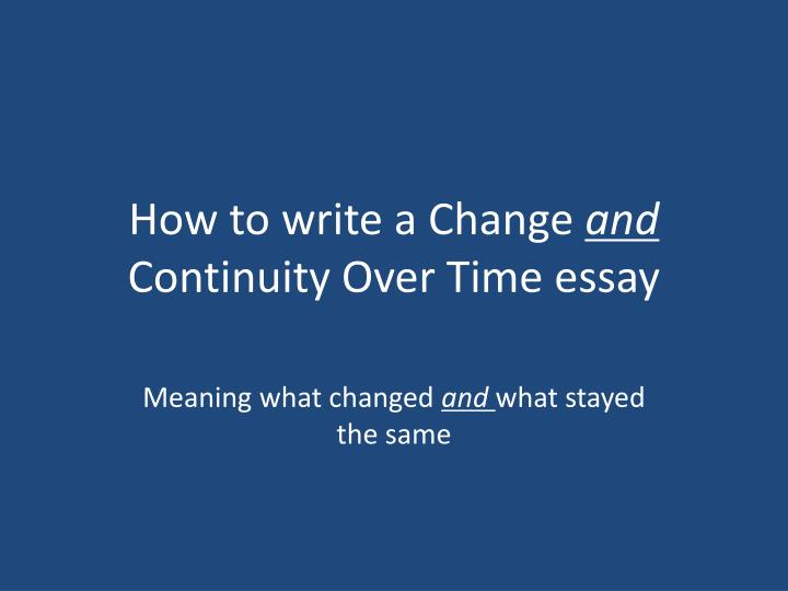 changes and continuities of global economic exchange 1900s present Ap world history essay catalog  1900 analyze changes and continuities in long-distance migrations global economic changes in the nineteenth and into the.