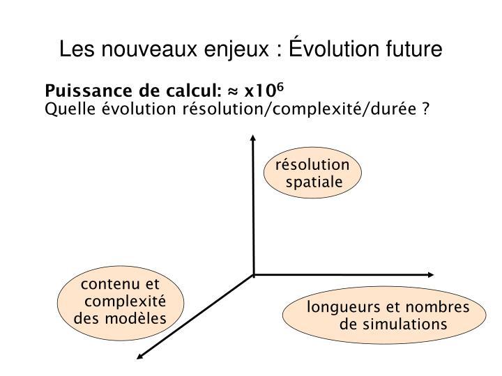 Les nouveaux enjeux : Évolution future