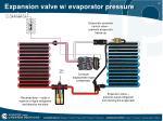 expansion valve w evaporator pressure control