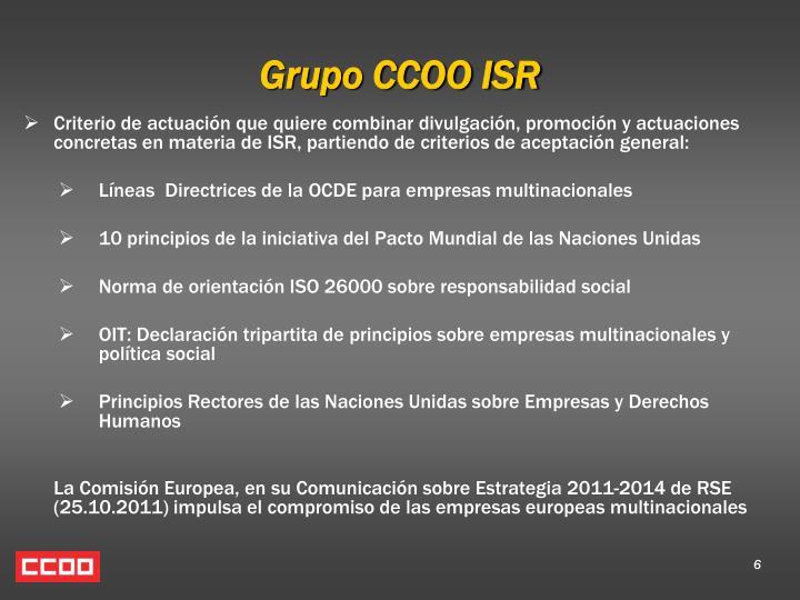 Grupo CCOO ISR