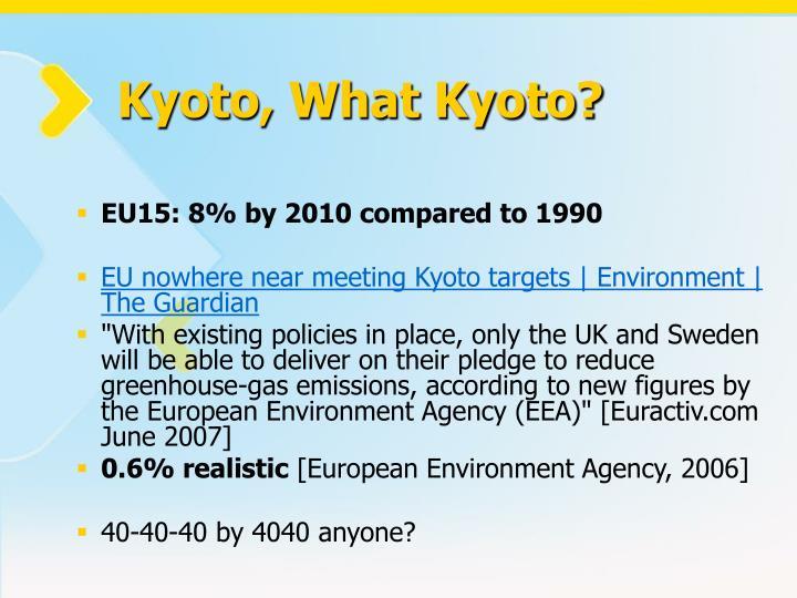 Kyoto, What Kyoto?