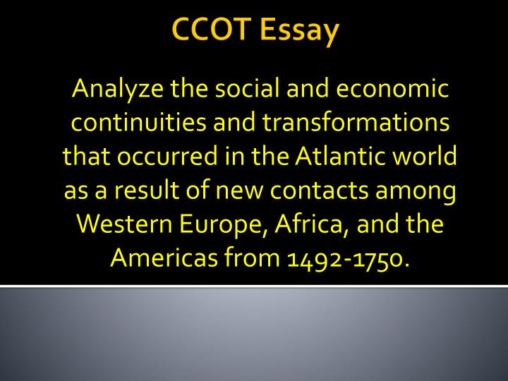 europe africa and the americas in 1492 to 1750 essay Change & continuity over time essay among western europe, africa, and the americas from 1492 to 1750 relationship to global trade patterns changed from 1750.