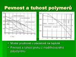 pevnost a tuhost polymer