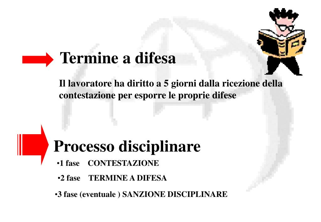 Contestazione Disciplinare 5 Giorni Lavorativi O Calendario.Ppt Formazione Di Base Sezione Giuridica Powerpoint