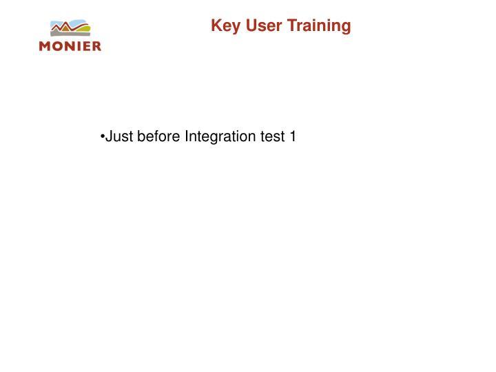 Key User Training