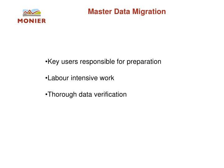 Master Data Migration