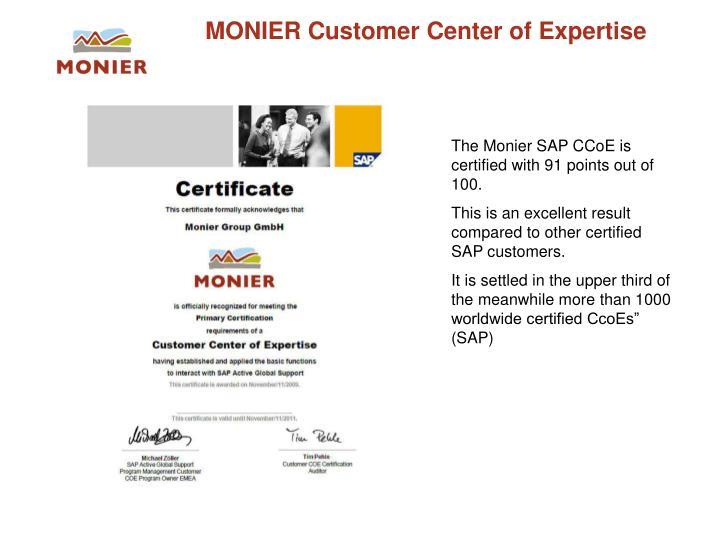 MONIER Customer Center of Expertise