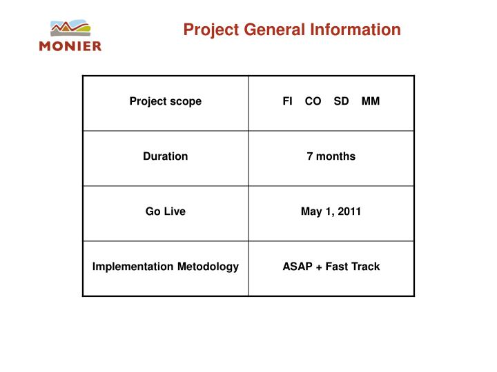 Project General Information