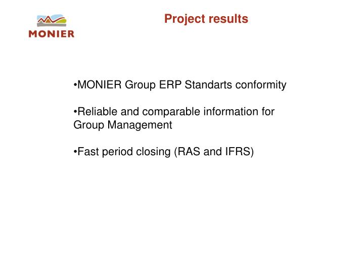 Project results
