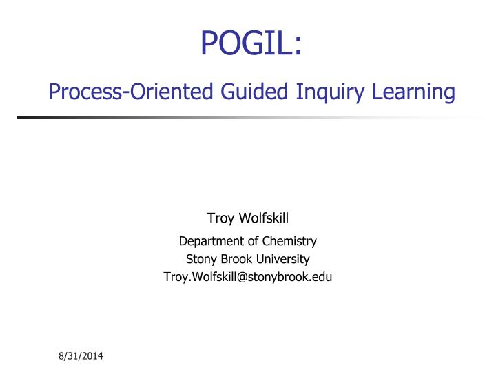 pogil process oriented guided inquiry learning n.