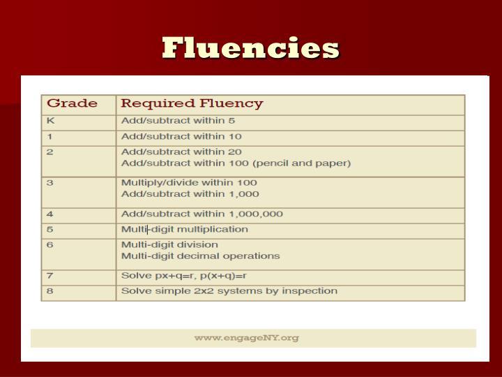 Fluencies