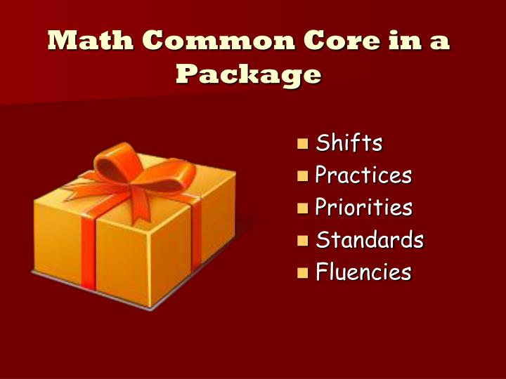 Math Common Core in a Package