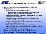 at94k memory map and cachelogic