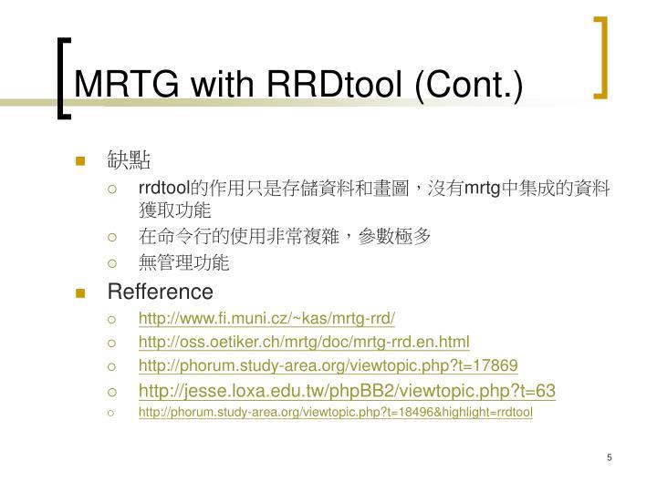 MRTG with RRDtool (Cont.)