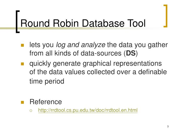 Round robin database tool
