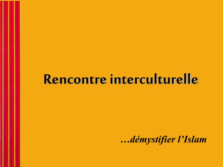 rencontre interculturelle n.