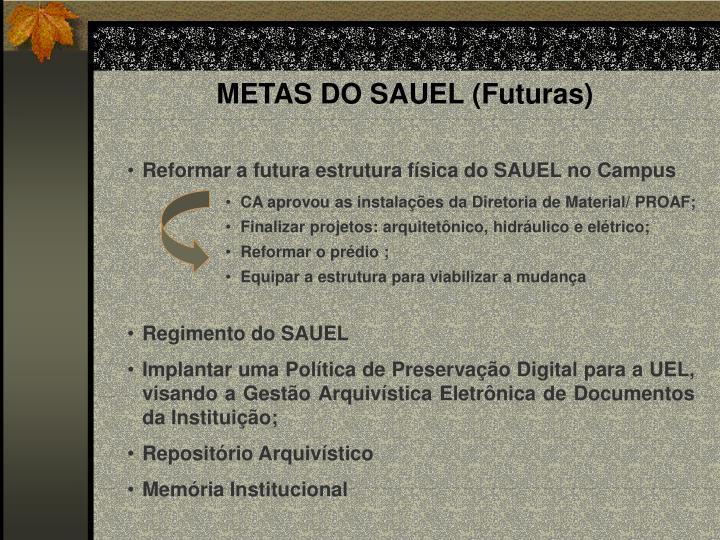 METAS DO SAUEL (Futuras)