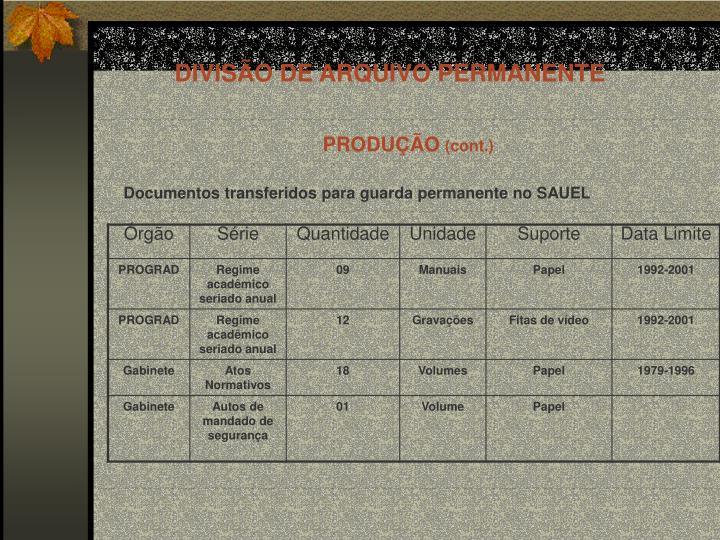 DIVISÃO DE ARQUIVO PERMANENTE
