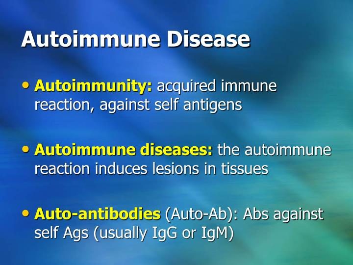 autoimmune disorders essay Autoimmune diseases are of two types—organ specific and non-organ specific scid (severe combined immuno deficiency) is a congenital immunodeficiency disorder in which both b-and t.