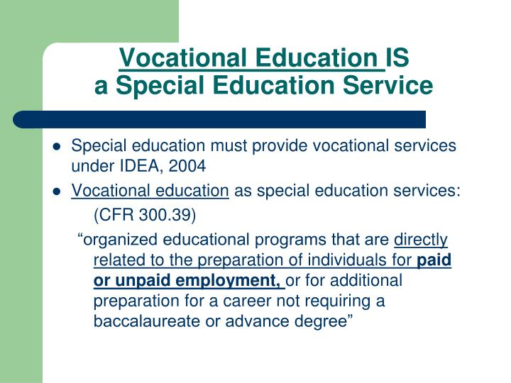 vocational transition special education Special education, vocational skills training, school to work, teaching strategies, work experiences for students with disabilities.