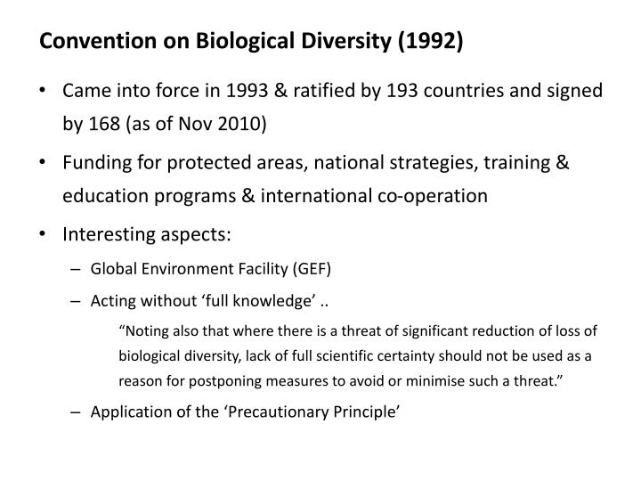 Convention on Biological Diversity (1992)