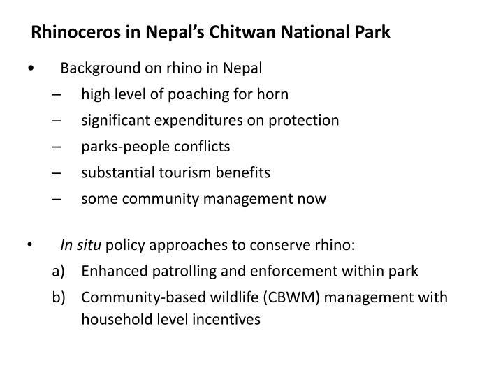 Rhinoceros in Nepal's Chitwan National Park