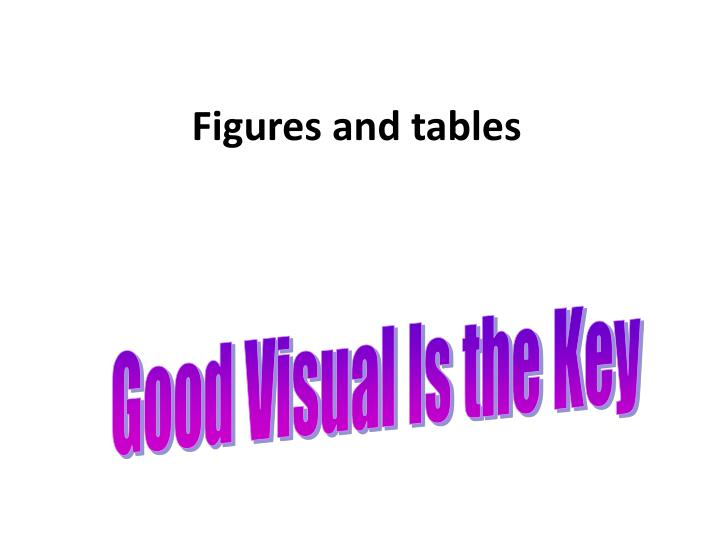 figures and tables n.
