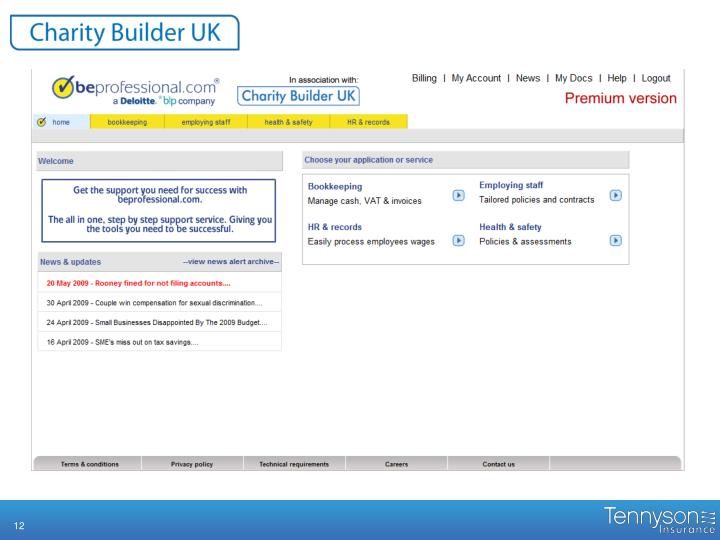 Using Charity Builder: