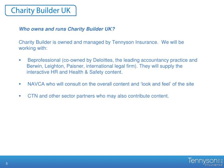 Who owns and runs Charity Builder UK?