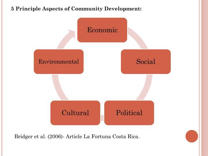 5 Principle Aspects of Community Development: