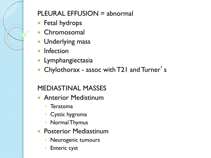 PLEURAL EFFUSION = abnormal