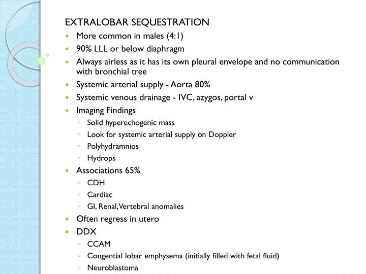 EXTRALOBAR SEQUESTRATION