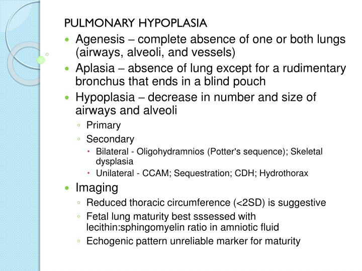 PULMONARY HYPOPLASIA