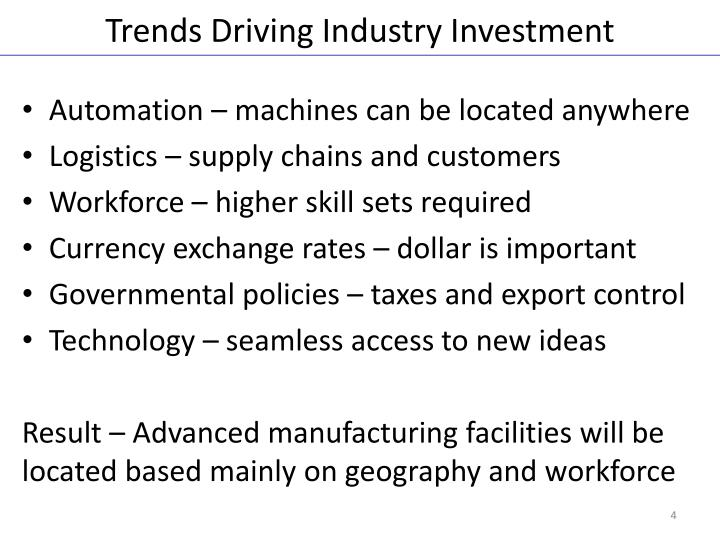 Trends Driving Industry Investment