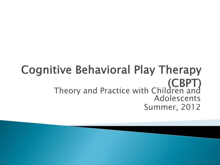 cognitive behavioral play therapy
