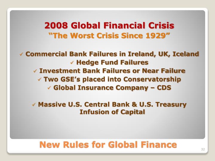 the causes and effects of the global financial crisis The effects of the financial crisis are still being felt, five years on this article, the first of a series of five on the lessons of the upheaval, looks at its causes print-edition icon.