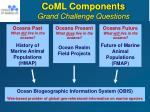 coml components grand challenge questions