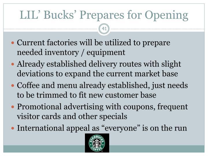 LIL' Bucks' Prepares for Opening