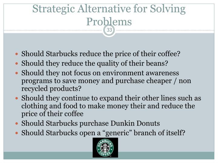 Strategic Alternative for Solving Problems